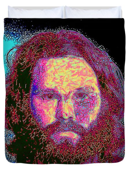Jim Morrison 20130329 square Duvet Cover by Wingsdomain Art and Photography