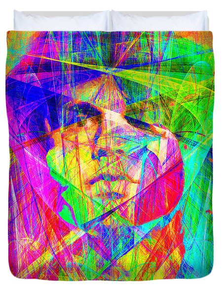 Jim Morrison 20130613 square Duvet Cover by Wingsdomain Art and Photography