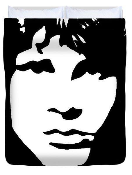 Jim Morrison  Duvet Cover by Yael Rosen