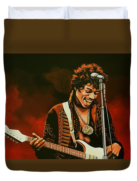 Jimi Hendrix Duvet Cover by Paul  Meijering