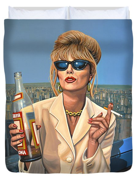 Joanna Lumley as Patsy Stone Duvet Cover by Paul Meijering