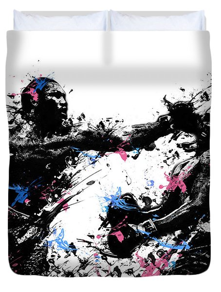 Joe Frazier Duvet Cover by Bekim Art