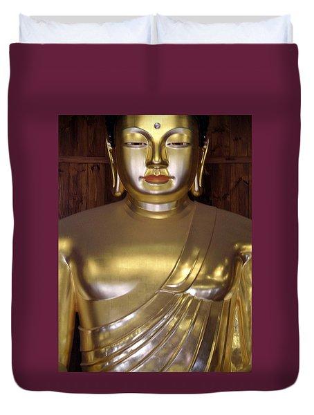 Jogyesa Buddha Duvet Cover by Jean Hall