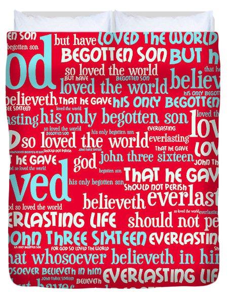 John 3-16 For God So Loved The World 20130622p120 Vertical Duvet Cover by Wingsdomain Art and Photography