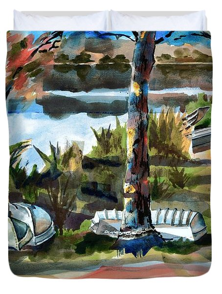 John Boats And Row Boats Duvet Cover by Kip DeVore