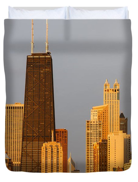 John Hancock Center Chicago Duvet Cover by Adam Romanowicz