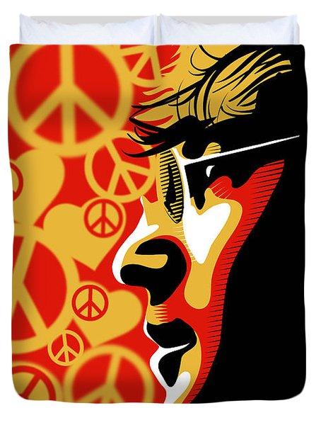 John Lennon Imagine Duvet Cover by Sassan Filsoof