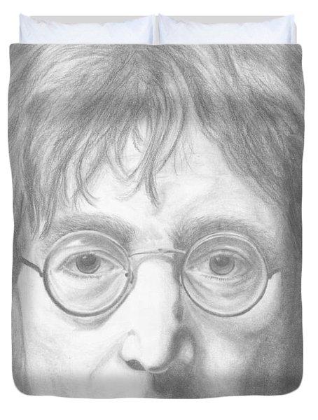 John Lennon Duvet Cover by Olivia Schiermeyer