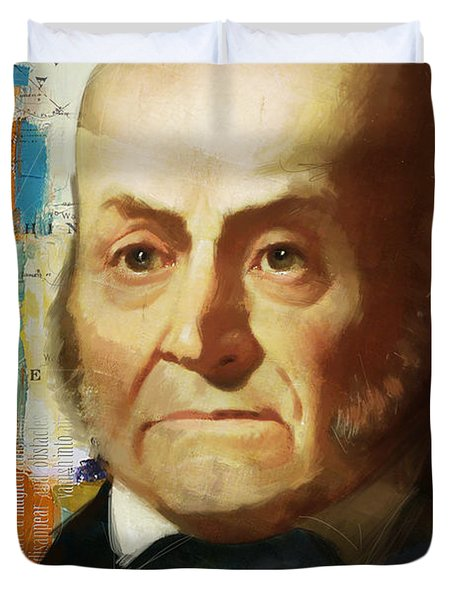 John Quincy Adams Duvet Cover by Corporate Art Task Force