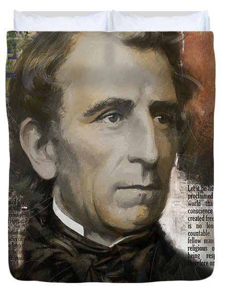 John Tyler Duvet Cover by Corporate Art Task Force