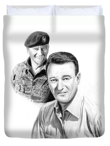 John Wayne Duvet Cover by Peter Piatt