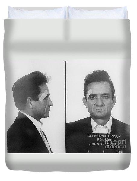 Johnny Cash Folsom Prison Duvet Cover by David Millenheft