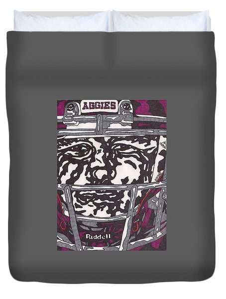 Johnny Manziel 16 Duvet Cover by Jeremiah Colley