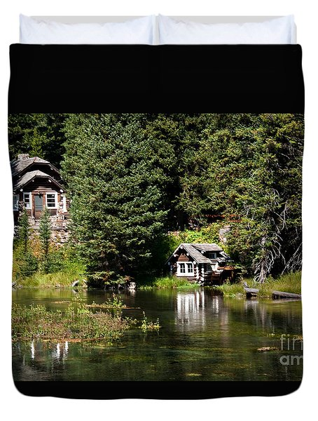 Johnny Sack Cabin Duvet Cover by Robert Bales
