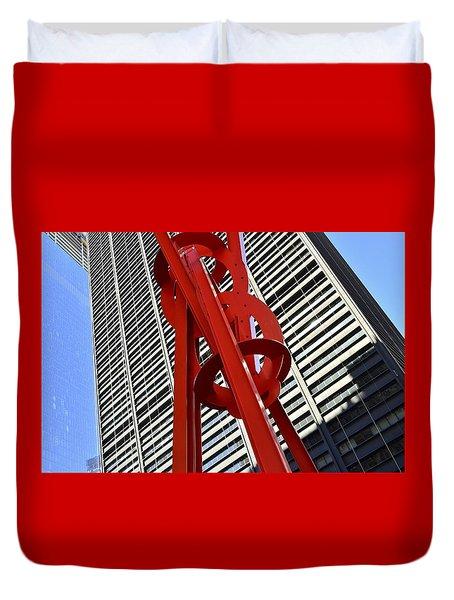Joie De Vivre Sculpture Duvet Cover by Allen Beatty