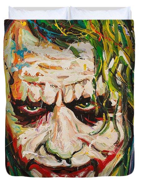 Joker Duvet Cover by Michael Wardle