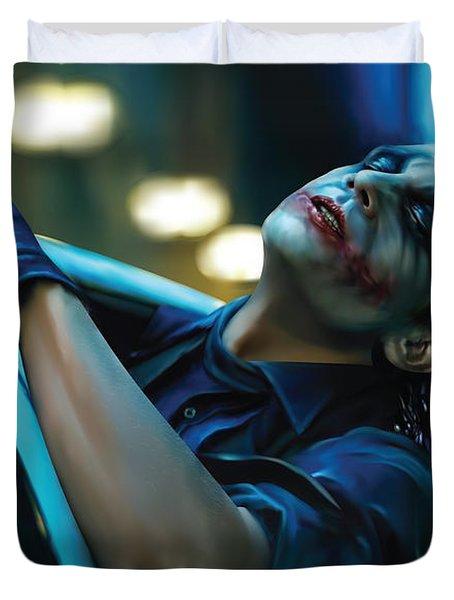 Joker Duvet Cover by Veronika Limonov