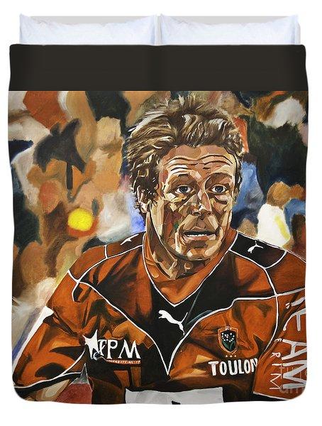Jonny Wilkinson Duvet Cover by James Lavott