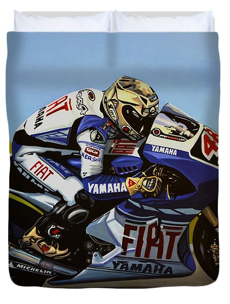 Jorge Lorenzo Duvet Cover by Paul  Meijering