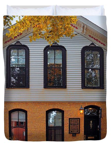 Joseph J O'connell House Chicago Duvet Cover by Christine Till