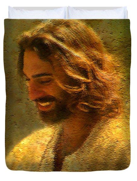 Joy Of The Lord Duvet Cover by Greg Olsen