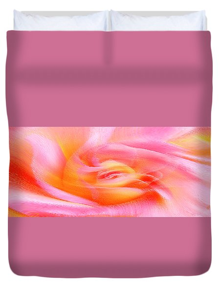 Joy - Rose Duvet Cover by Ben and Raisa Gertsberg