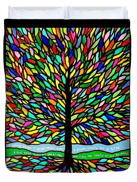 Joyce Kilmer's Tree Duvet Cover by Jim Harris