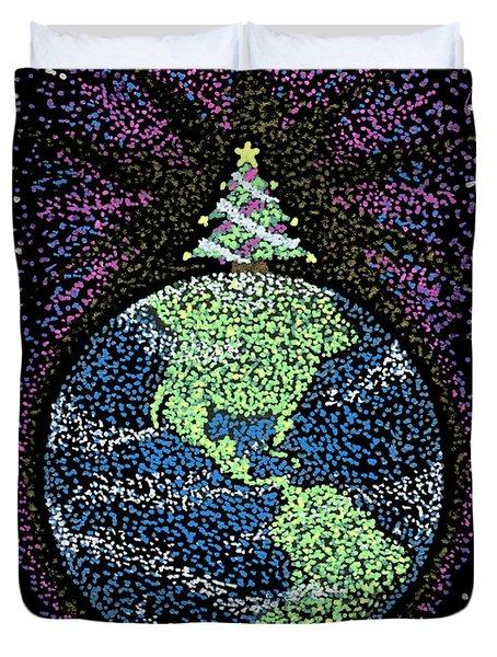 Joyful Joyful Duvet Cover by Keiko Katsuta
