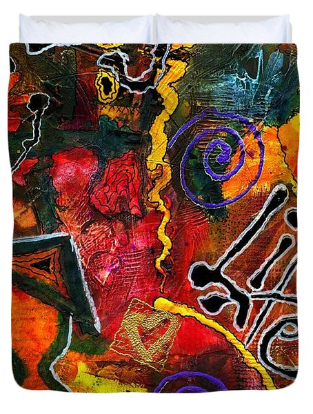 Joyfully Living Life Anew Duvet Cover by Angela L Walker