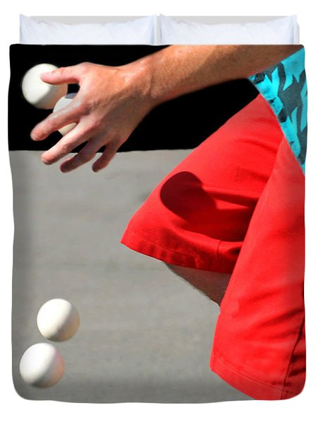 Juggler Duvet Cover by Diana Angstadt