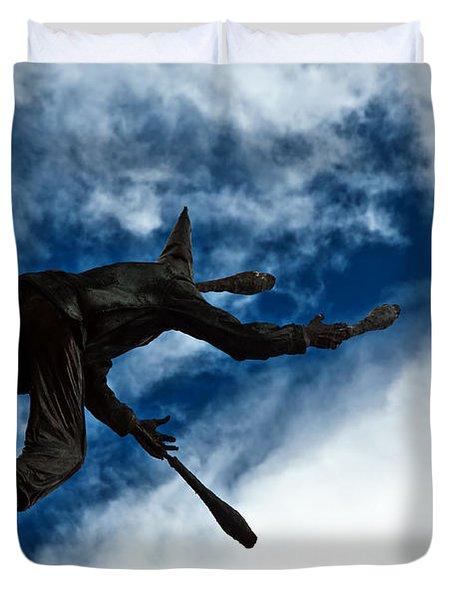 Juggling Statue Duvet Cover by Jess Kraft