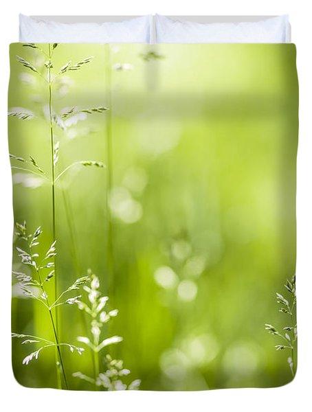 June Green Grass  Duvet Cover by Elena Elisseeva