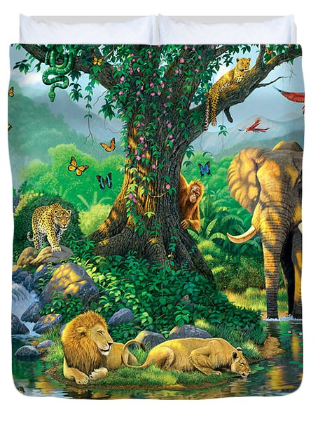 Jungle Harmony Duvet Cover by Chris Heitt