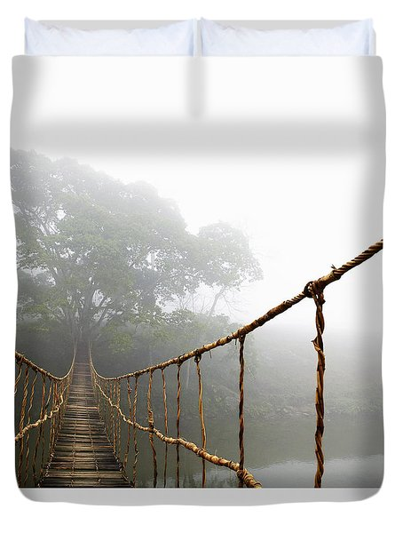 Jungle Journey Duvet Cover by Skip Nall