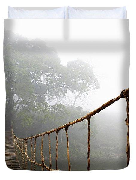 Jungle Journey Duvet Cover by Skip Nall