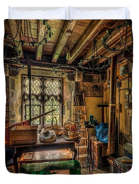 Junk Room Duvet Cover by Adrian Evans