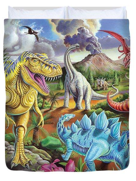 Jurassic Jubilee Duvet Cover by Mark Gregory