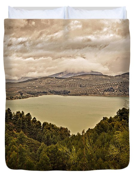 Just Before The Storm - Ardales Duvet Cover by Mary Machare