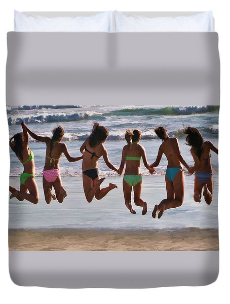 Just Jump Duvet Cover by Tammy Espino