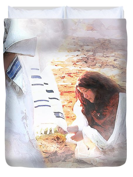 Just One Touch Duvet Cover by Jennifer Page