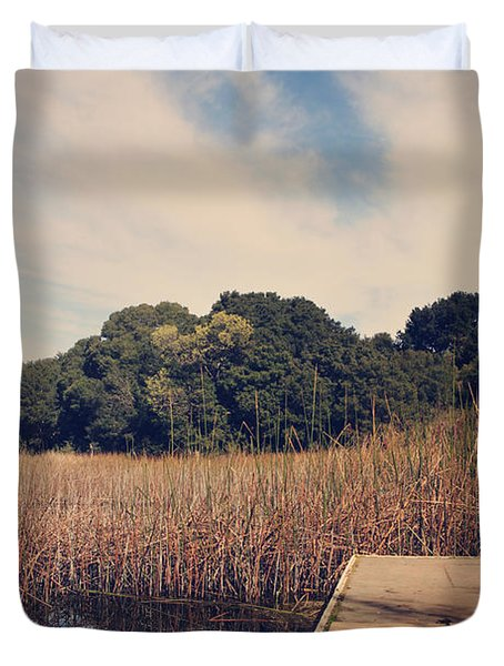 Just to Make This Dock My Home Duvet Cover by Laurie Search