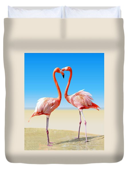 Just We Two Duvet Cover by Kristin Elmquist