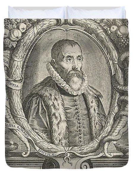 Justus Lipsius, Belgian Scholar Duvet Cover by Photo Researchers