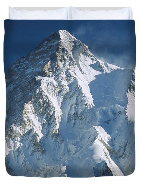 K2 At Dawn Pakistan Duvet Cover by Colin Monteath