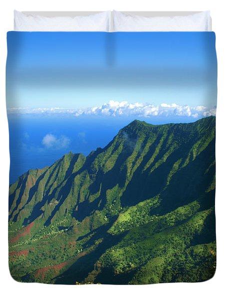 Kalalau Valley Duvet Cover by Brian Harig