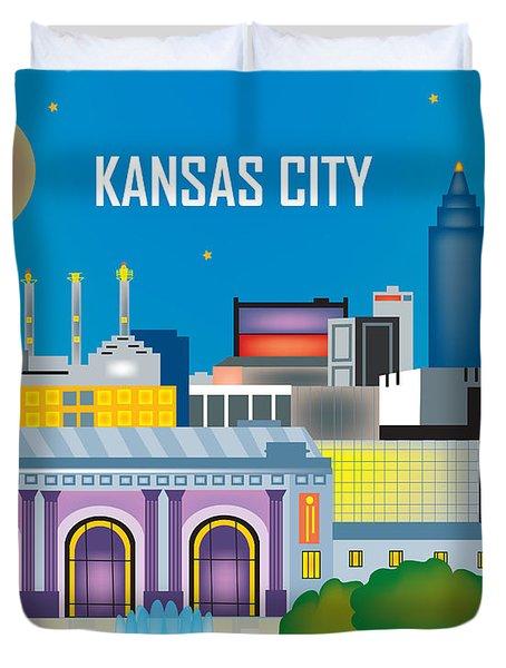 Kansas City Duvet Cover by Karen Young