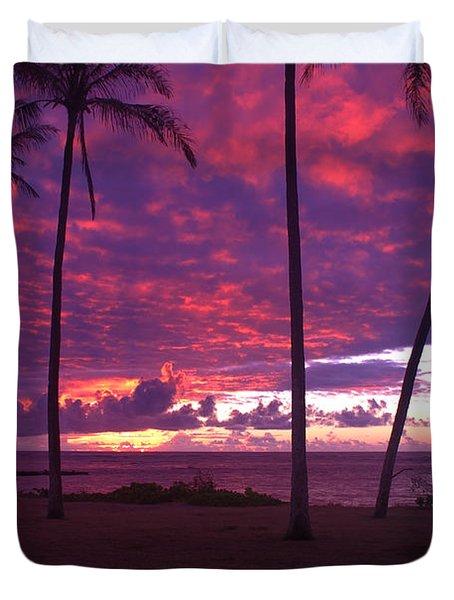 Kapaa Kauai Sunrise Duvet Cover by Brian Harig