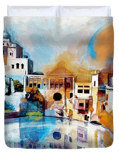 Katas Raj Temple Duvet Cover by Catf