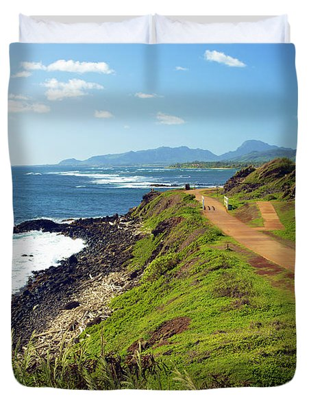 Kauai Coast Duvet Cover by Kicka Witte