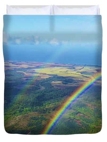 Kauai Double Rainbow Duvet Cover by Kicka Witte